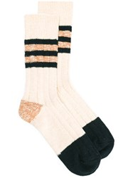 Bellerose Stripe Panel Socks Nude Neutrals