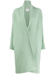 Vince Asymmetric Coat Green