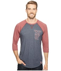 The North Face 3 4 Americana Baseball Tee Urban Navy Heather Barolo Red Heather Men's Long Sleeve Pullover Blue