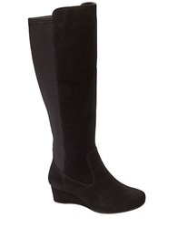 Rockport Total Motion Knee High Wedge Boots Black