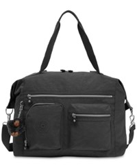 Kipling Carton Satchel Black Silver