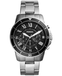 Fossil Men's Chronograph Grant Sport Stainless Steel Bracelet Watch 44Mm Fs5236 Black