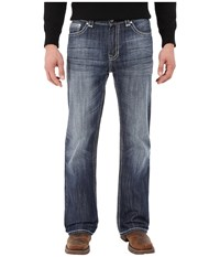 Rock And Roll Cowboy Double Barrel Relax In Dark Vintage M0d5502 Dark Vintage Men's Jeans Navy