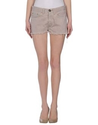 Shield Denim Bermudas Pastel Pink