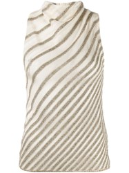 Missoni Zigzag Pattern Knitted Top Neutrals