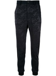 Loveless Camouflage Fitted Trousers Blue