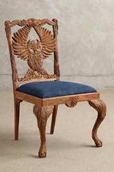 Anthropologie Handcarved Menagerie Owl Dining Chair Bronze