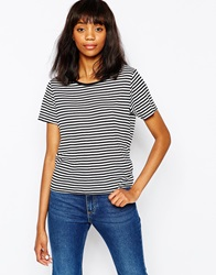 Monki Stripe Tee Multi
