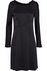 Vanessa Bruno Satin Crepe Mini Dress Black