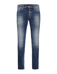 Jack And Jones Jjtim Jjleon Faded Five Pocket Jeans Blue Denim