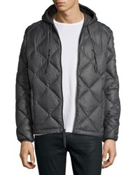 Marc New York Appleton Quilted Puffer Hooded Jacket Fog Grey