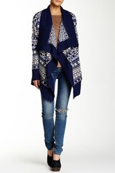 Romeo And Juliet Couture Printed Open Cardigan Blue