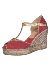 Kanna Platform Sandals Malboro Or Red
