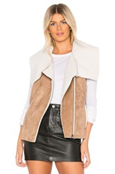 Cupcakes And Cashmere Fionna Vest With Faux Fur Lining Brown