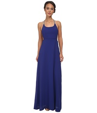 Alejandra Sky Gallia Halter Dress Royal Blue Women's Dress