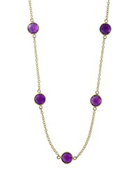 Effy Viola Amethyst And 14K Yellow Gold Station Necklace Purple