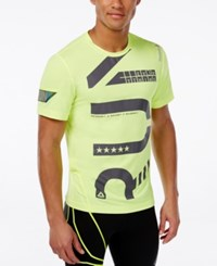 Reebok Men's Running Graphic T Shirt Neon Yellow