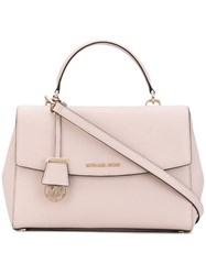 Michael Michael Kors 'Ava' Medium Satchel Women Leather One Size Pink Purple