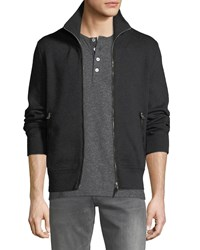 Tom Ford Wool Zip Front Sweater Gray