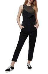 Women's Topshop Black Denim Overalls