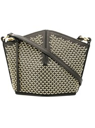 Alexander Mcqueen Half Ring Stud Crossbody Bag Black