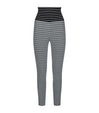 Missoni Zig Zag Knit Leggings Female Black