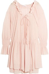 See By Chloe Gauze Mini Dress Pastel Pink