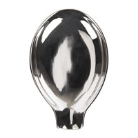 Sir Madam Spoon Rest Silver Plated Brass