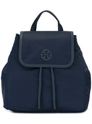 Tory Burch Flap Closure Backpack Blue
