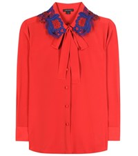 Marc Jacobs Silk Shirt Red