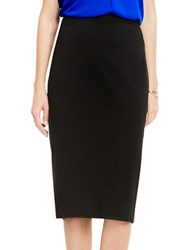 Vince Camuto Solid Pencil Skirt Rich Black