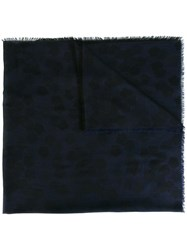 Z Zegna Frayed Edge Scarf Blue