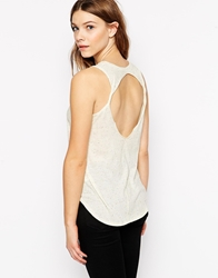 Twenty Twist Back Tank Top Natural
