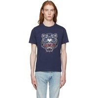 Kenzo Navy Bleached Tiger T Shirt