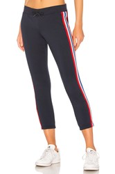 Pam And Gela Sweatpant With Bird Sport Stripes Navy