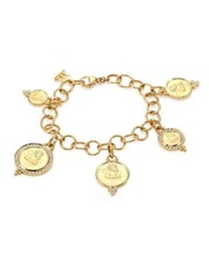 Temple St. Clair Angel 18K Yellow Gold Charm Bracelet