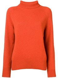 Ymc Roll Neck Jumper Yellow And Orange