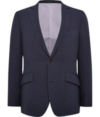Austin Reed Contemporary Fit Linen Jacket Navy