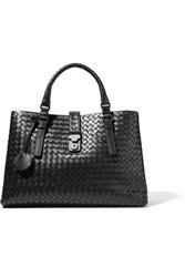 Bottega Veneta Roma Large Intrecciato Leather Tote Black