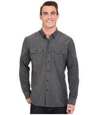Kuhl Airspeed Long Sleeve Top Carbon Men's Long Sleeve Button Up Gray