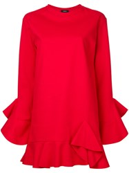 Goen.J Ruffle Trim Tunic Red