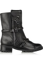 Schutz Paolette Quilted Leather Boots Black