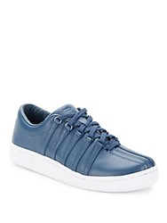 K Swiss Leather Lace Up Sneakers Dark Denim