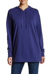 Volcom Lived In Long Pullover Hoodie Blue