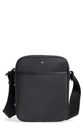 Montblanc Men's Reporter Leather Bag Black