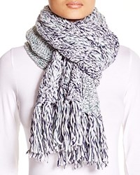 Ugg Australia Grand Meadow Novelty Cable Fringe Scarf Navy Multi
