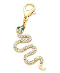 Thalia Sodi Gold Tone Pave Snake Clip On Charm Only At Macy's