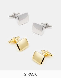 Asos Cufflinks 2 Pack Save 20 Multi