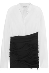 Vionnet Cotton Blend Poplin And Ruched Wool Shirt