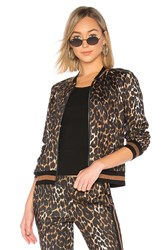 Pam And Gela Leopard Track Jacket Brown